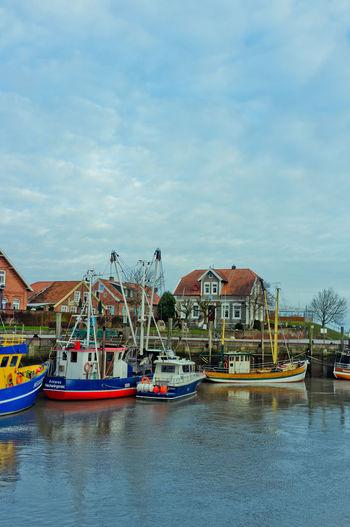 Anchored Fishing Boat Mode Of Transportation Moored Nautical Vessel Neuharlingersiel Sailboat Transportation Waterfront