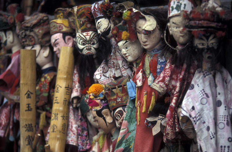 Old human puppets