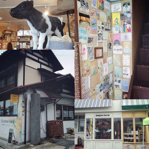 秋田山形日記 DAY 6 山形の雑貨屋さん 旅行に行ったら、必ずしたいこと✨ カフェめぐりと、もうひとつは雑貨屋さんめぐりです😘 可愛い雑貨屋さんは、ガイドブックに載っていないところもあるので、ブログやTwitterなどをフォローしたり、とことん調べて来ました🔍🤔 山形には、たくさん雑貨屋さんがあるので、どこに行こうか迷いましたが、順序良く行けそうなお店をふたつに絞って決めました😌(ほんとうは、もっとまわりたい!泣) まず、ひとつめの雑貨屋さんは【Caramel Field】です😚 外観は、普通の一戸建ての家のような佇まいですが、可愛い看板が目印なので分かりやすかったです!۬৺۬✧ こじんまりとした店内には、たくさんの雑貨たちが並んでいて、何時間でもいれるような空間でした😆👏🏼👏🏼 つぶらな瞳の牛さん、欲しかった。笑🐮🐄💕 おみやげ買って、玄関付近に貼ってあったハガキサイズのポスターが可愛かったので記念に😚📱✨ お次の雑貨屋さんは、ストライプの屋根が目印の【maple farm】です🍯 駐車場の一角では、フリマが開催してました😃 ここでも、いろいろな雑貨たちが並んでいて、やっぱりおみやげ買いました😁👍🏼 雑貨屋さんめぐりは、いつどこでめぐっても楽しすぎますね✌🏼️😆✨ 雑貨屋さんLOVEです😍😍😍 つづく。 秋田山形日記 山形 山形みやげ 雑貨屋さん 雑貨屋めぐり キャラメルフィールド CaramelField メイプルファーム Maplefarm 旅行記 旅行 旅