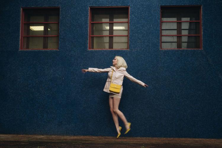 Fashion TheWeekOnEyeEM Blue Fashion Photography Girl Model Movement Photography
