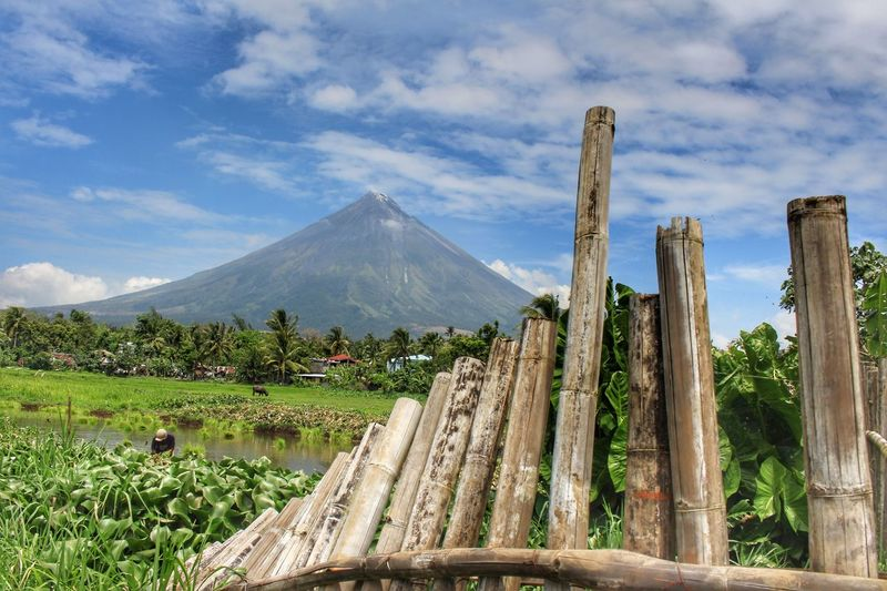 Cloud - Sky Outdoors Nature Landscape Mountain Sumlang Lake MayonVolcano😍🌋 Mayon Volcano Albay Philippines Mayon Volcano Philippines Beauty In Nature Water Nature Transportation Vacations Travel Bamboo Grove Bamboo Dramatic Sky EyeemPhilippines EyeEmNewHere EyeEmBestPics Eyeemph