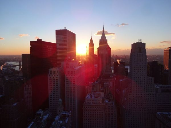 Financial District  Buildings Sunrise Flair High Views Rooftop Scenery Rooftop View  New York City The Best Of New York