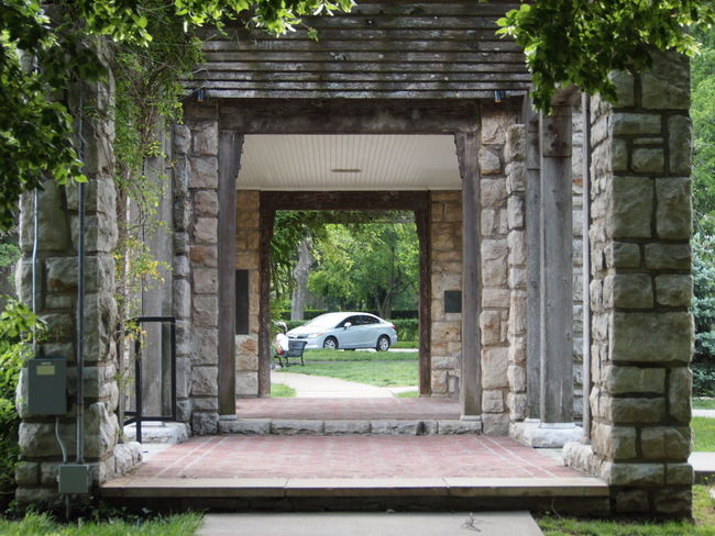 EyeEmNewHere Architecture Breezeway Built Structure Car Day Nature No People Outdoors Tree