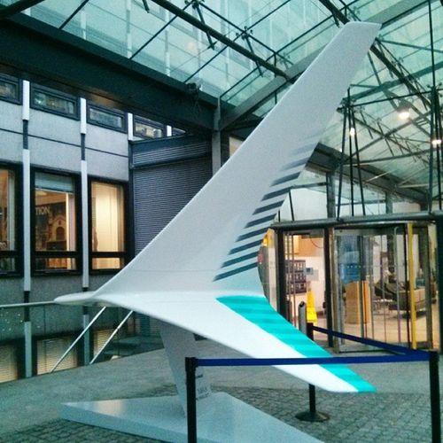 GKN winglet outside the office Vscocam London Aerospace GKN planes
