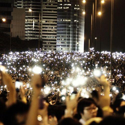 """With hands held high into a sky so blue"" ~ Hands Held High - Linkin Park 佔領中環 公民提名 學運 梁振英落台"
