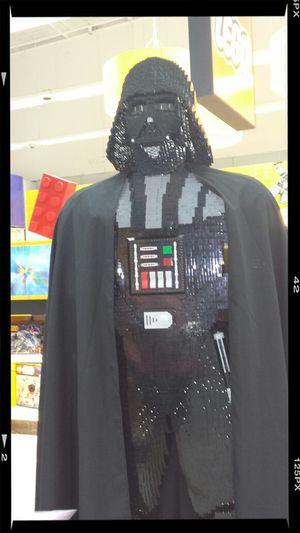 saw this at Toys R Us made out of Legos Darth Vader Legos