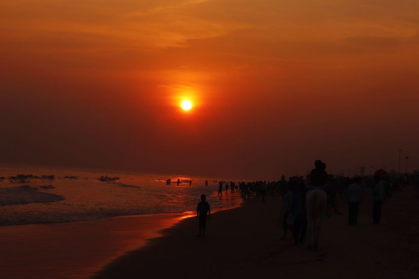 sunset Sunset Beauty In Nature Beach Nature Scenics Sand Sun