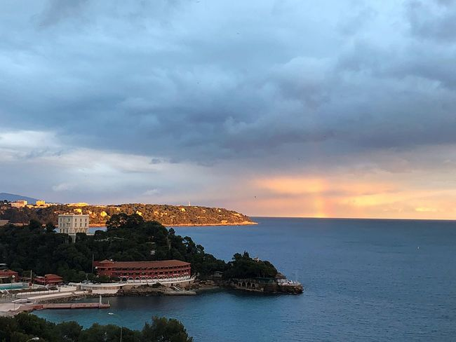 Rainbow after a rainy day Pretty In Pink I❤️monaco Beauty Pretty Colors Clouds Rainbow Bolonie Art Bolonie Bolonie Style Cloud - Sky Sky Architecture Sea Built Structure Building Exterior Water Nature Scenics Beauty In Nature Horizon Over Water Waterfront No People Outdoors Day EyeEmNewHere