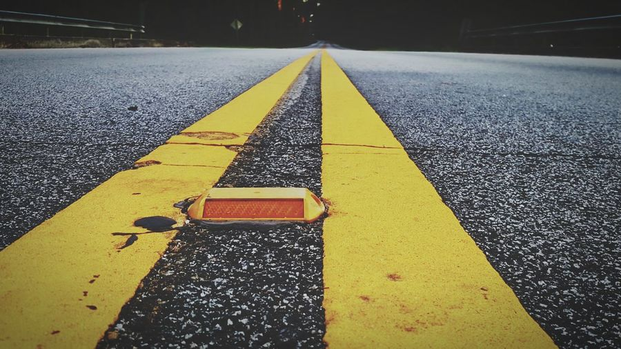 EyeEm Selects Yellow Road Marking Asphalt Road Photodroid  Andrography Low Angle View Paint The Town Yellow