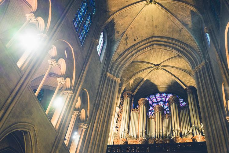 Architectural Feature Architecture Built Structure Church Church Church In The City Light In The Church Lighting Equipment Medieval Architecture No People Paris Spiritual The Architect - 2016 EyeEm Awards