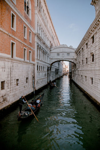 Canal Canals And Waterways Veneto Venice Venice, Italy Gondola - Traditional Boat Water City Nautical Vessel Canal Waterfront Sky Architecture Building Exterior Built Structure Gondolier Rowing Arch Bridge Bridge - Man Made Structure