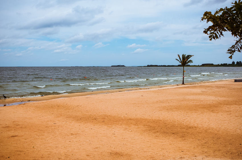 a beach in Entebbe Uganda  Africa Beach Beauty In Nature Day Entebbe Horizon Over Water Nature No People Outdoors Sand Scenics Sea Shore Sky Tranquil Scene Tranquility Tree Victoria Lake Water Wave