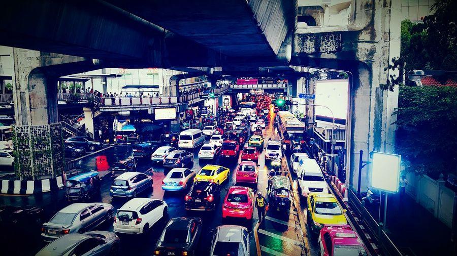 Bangkok Bangkok City Bangkok City Life Cars Vacation Holiday Transportation Road Colorful Colors
