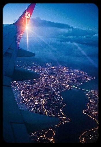 Sky Plane Travel Landscape