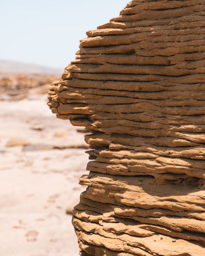 Close-up of stack of rock