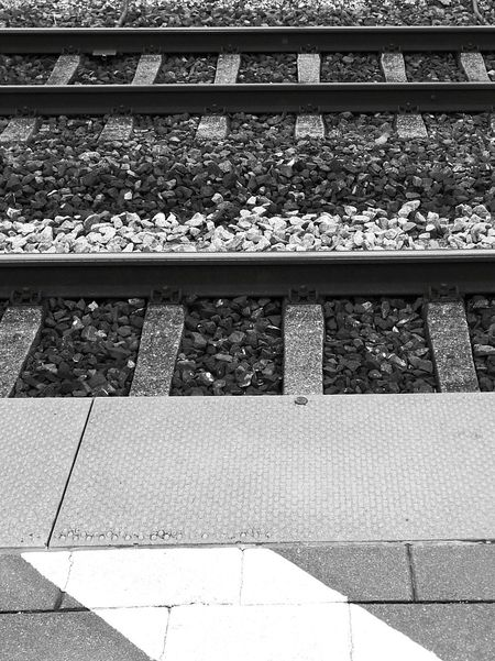 Railroad Track High Angle View Day Outdoors No People Rail Transportation Train Station