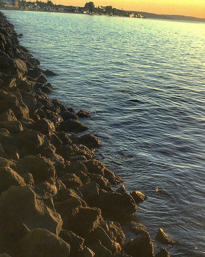 Beautiful sun set light Sea Beach Nature Scenics Outdoors Coastal Feature Nature Art Nature Photography