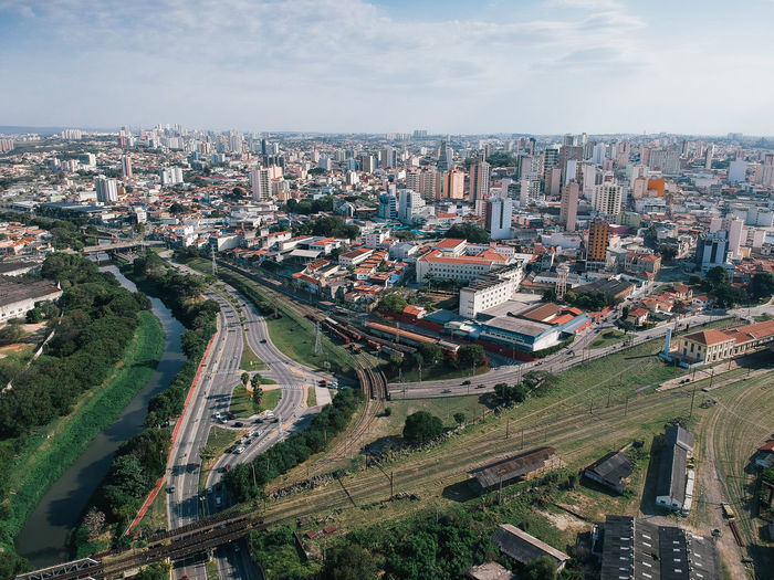 Brazil City Cityscape Drone  Sao Paulo - Brazil Aerial Aerial View Birds Eye View Buildings Sorocaba Street View From Above