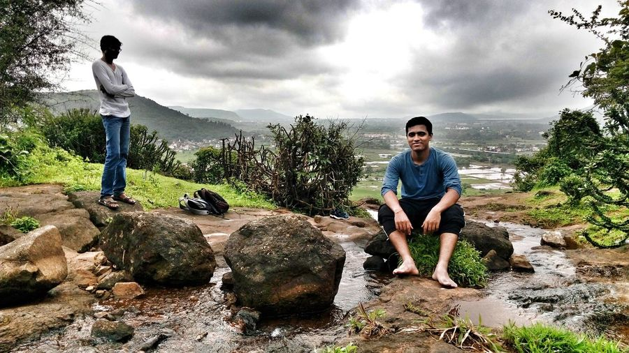 EyeEm Selects Cloud - Sky Casual Clothing Full Length Sky Day People Outdoors Boys Portrait Nature Water Forest Trees Forest Stream Hiking Adventures Scenics High Mountain Treking Adventure Landscape Peace Fun Happiness Great View