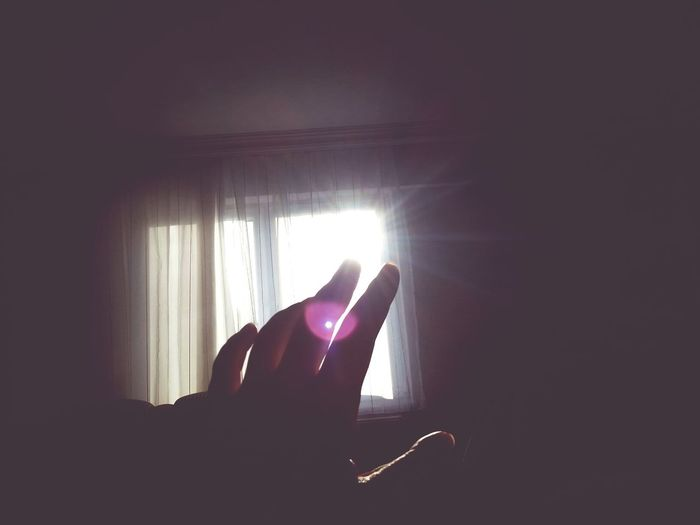 Sunset Silhouettes Sun Light My Hands Summer