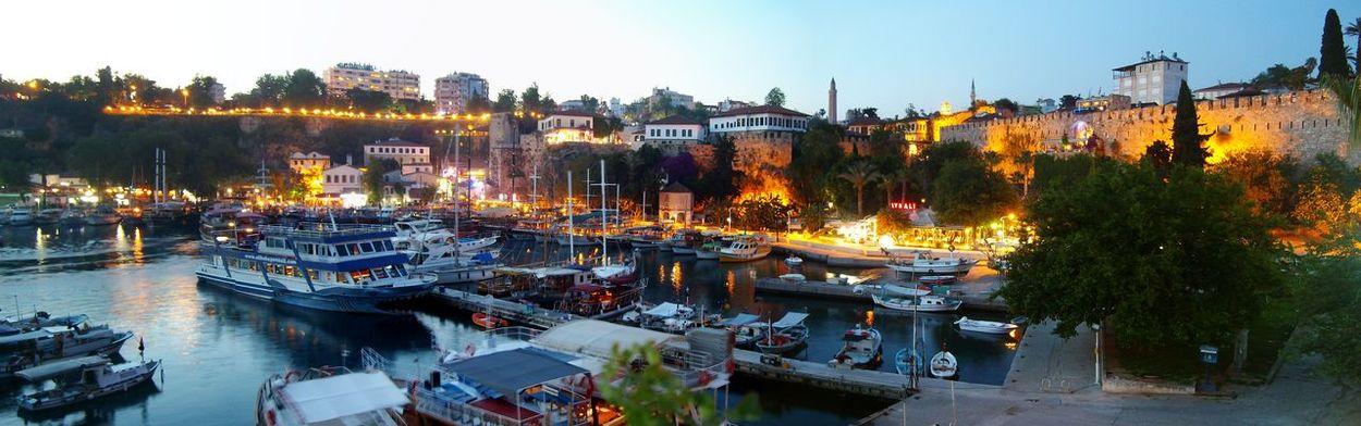 Antalya Old Harbour Panorama Travel Photography Sailboat Ship