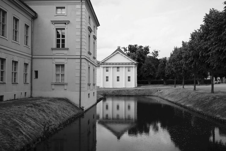 Black & White Brandenburg Schloss Rheinsberg Architecture Blackandwhite Blackandwhite Photography Building Building Exterior Built Structure Canal City Cloud - Sky Day House Nature No People Outdoors Plant Reflection Residential District Sky Tree Water Waterfront