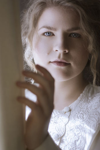 Beautiful Woman Beauty Blond Hair Close-up Day Deepgaze Ethereal Femininity Fragile Headshot Indoors  Looking At Camera No People One Person People Pianist Portrait Real People Soft The Portraitist - 2017 EyeEm Awards War Warm Young Adult Young Women