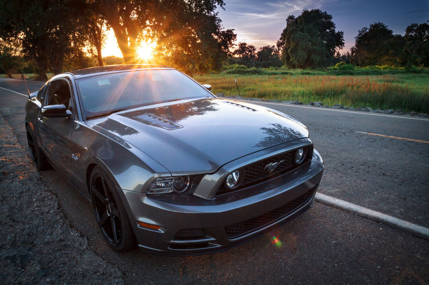 Streetcarweekly Car Sunset Road Sky Ford Ford Mustang Pony Cars Muscle Car American Muscle Photography Photooftheday Sunsets Norcal California First Eyeem Photo