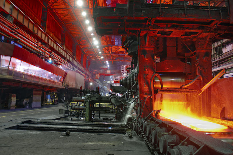 Molten Steel In Factory