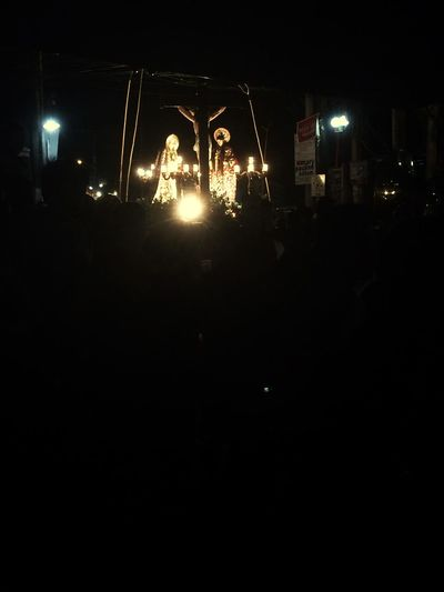 Prosisyon Night Illuminated Jesus Prosisyon Cross Holy Week