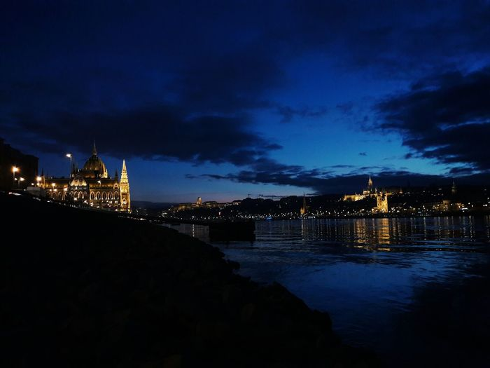Night Budapest Parliament Parliament Building Hungary Architecture Illuminated Reflection Danube Travel Destinations City Travel Tourism Water Outdoors No People Reflection Lake