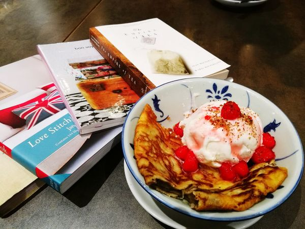 Food for thought Dessert Sweet Food Frozen Food Ice Cream Indulgence Food Culture Temptation Sweet Tooth Of Mine Books ♥ Book Collections Journals Reflections No People Favourite things