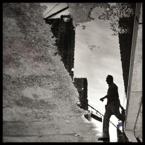 Streetphotography Blackandwhite Reflection Puddleography