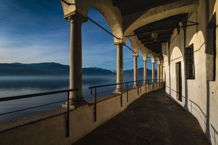 Santa Caterina del Sasso Arch Architectural Column Architectural Detail Architecture Architecture Architecture_collection Architecturelovers Italy Lagomaggiore Lake Lake View Lakeview Landscape Landscape_Collection LandscapeCollection Nature No People Outdoors Santacaterinadelsasso Scenics Sky Water
