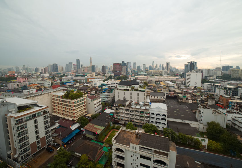 Aerial View Architecture Bangkok BKK Bkk Thailand Building Exterior Business Finance And Industry City Cityscape Cloud - Sky Day Downtown District No People Office Building Exterior Outdoors Sky Skyscraper Travel Destinations Urban Skyline