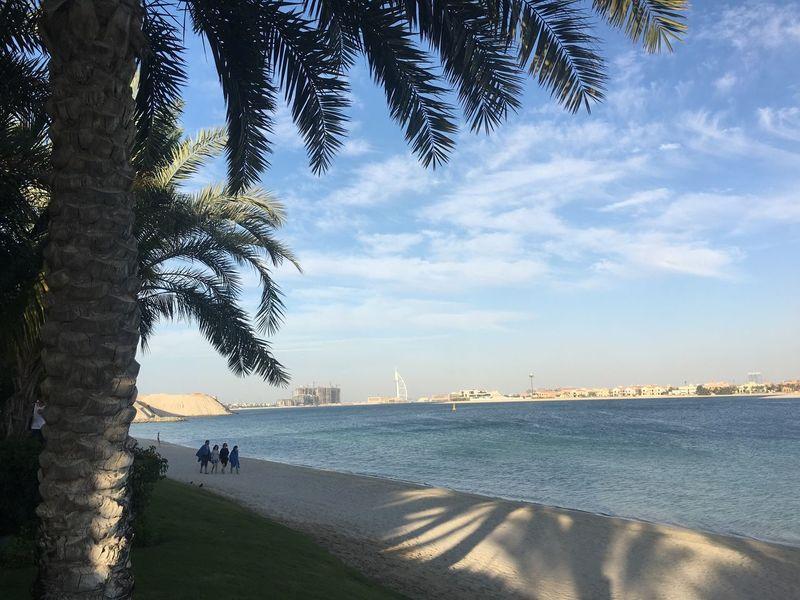 Summer with friends are cherished forever. Chadventurestories Dubai Mydubai UAE Burjalarab Icon Palmisland Island Beach Sun Sky Ocean Friends Gettogether Palm Tree Vacation Travel Photography EyeEmNewHere Let's Go. Together.