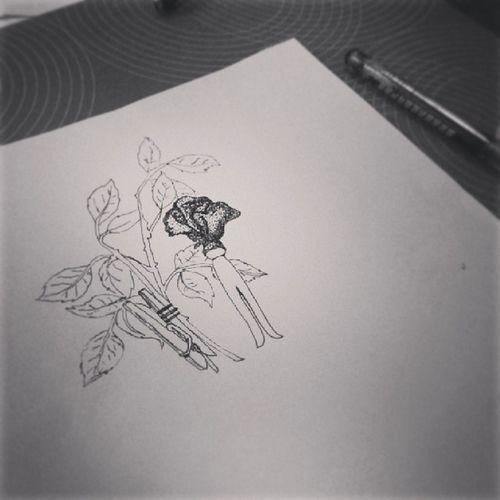 Inprocess ArtWork Art Draw dotwork drawing design tattoo tattoodesign work life rose leaf pencils paper love Get your own design: marijnfidder@hotmail.com