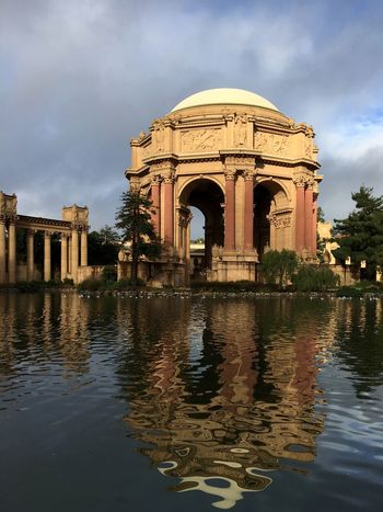 Architecture Reflection No People The Palace Of Fine Arts, SF