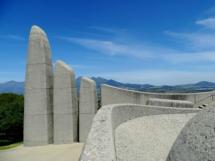 Concrete built structures against sky at taal monument