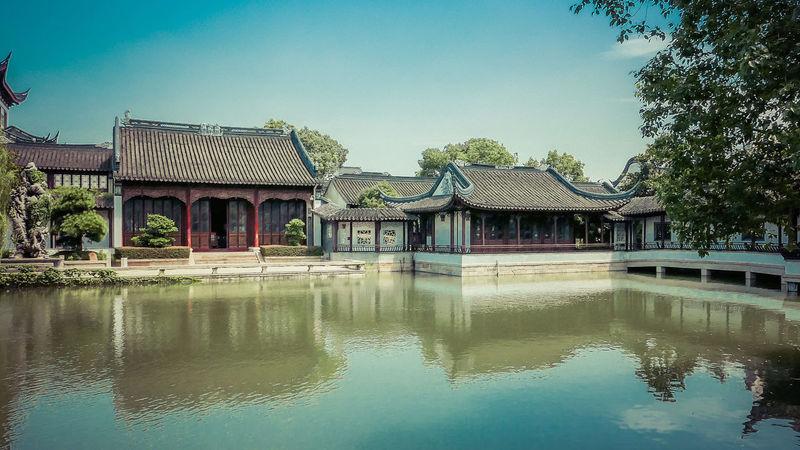Landscape Water Reflections Garden Chinese Garden