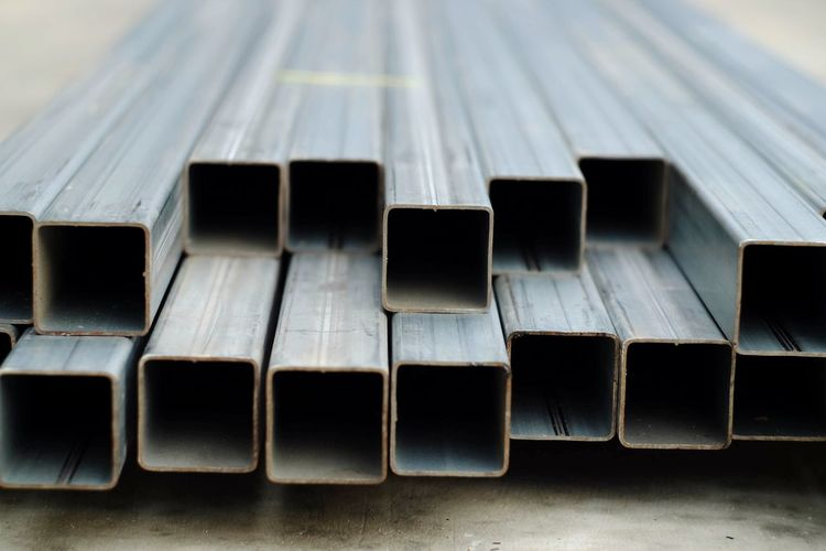Square steel tube for industry Metal Industry Industrial Steel Building Architecture Engineering Work Job Supply Equipment Structure Construction Fix  House Home Iron Infrastructure Rod Hole Hard Stack Business