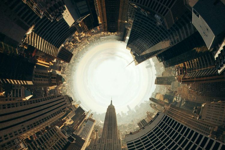 Original from unsplash. City Urban Architecture Street Skyscraper Showcase July Newyork FishEyeEm Round