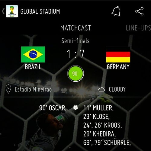 Finally dapat jgak 1 hahaha RipBrazil Olabola BRAvsGER Worldcup