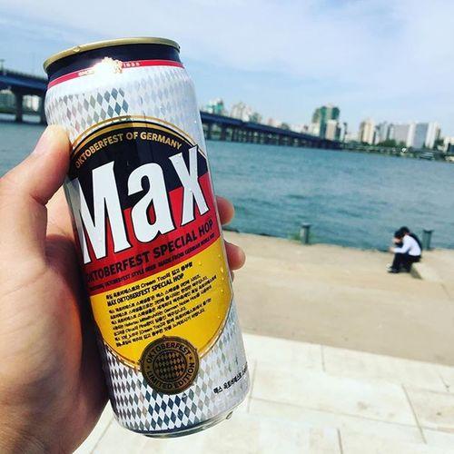 한강맥주!! 자전거 라이딩 여의도공원 한강 힘듬 헥헥 맥주 맥스