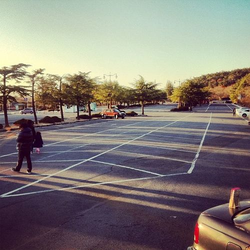 Have you ever seen a UNESCO World Heritage site parking this empty?