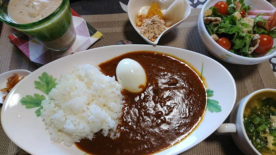 朝カレー☆ Curry Japanese Food Food And Drink Healthy Eating Egg Yummy Healthy Lifestyle Foodporn
