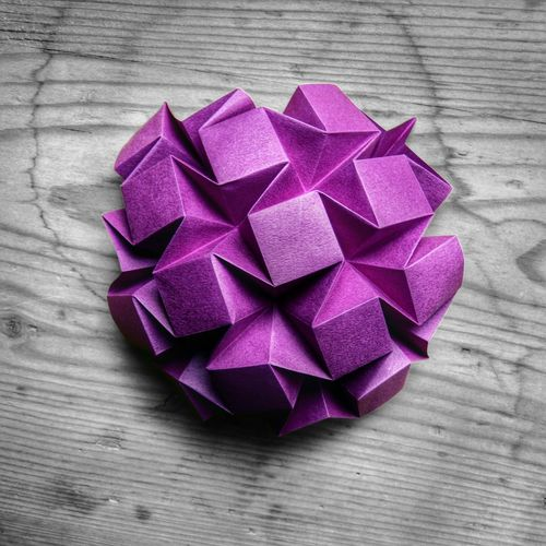 Waterbomb Tesselation (Eric Gjerde) folded by me Origami Design Violet By Motorola Paperart Art Check This Out Getting Inspired Make Magic Happen Everyday Joy Geometric Shapes