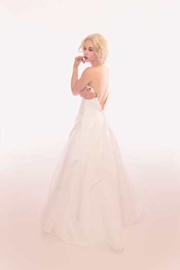 Women One Person Fashion Wedding Adult Bride Clothing Newlywed Full Length Dress Wedding Dress Young Women Indoors  Real People White Background Studio Shot Beauty Beautiful Woman