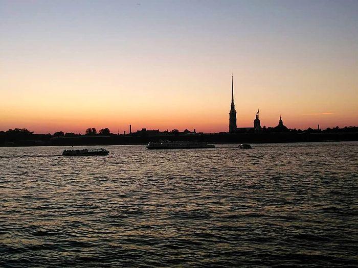корабли Закат Hallo World Taking Photos Санкт-Петербург Beauty Blue City Nautical Vessel Cityscape Sunset Urban Skyline Water Sailing Ship History Sailing Sailboat