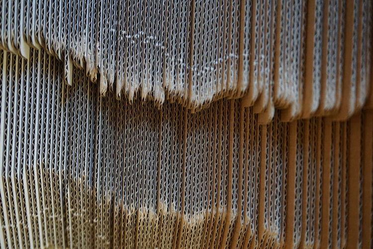 Full frame shot of metal hanging on wall